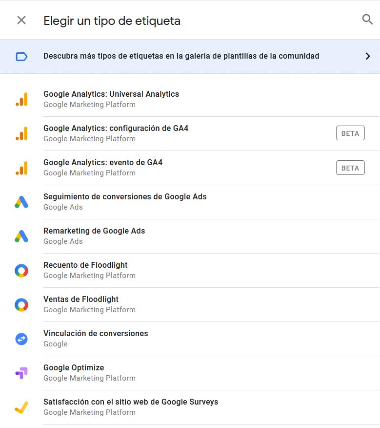 integracion de tag manager con otras herramientas de google